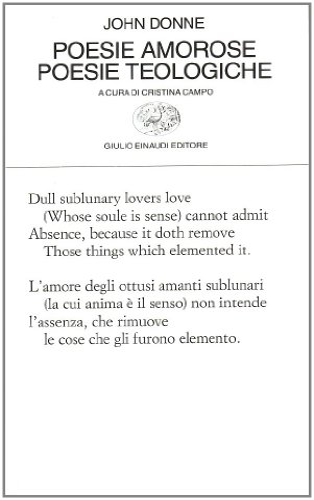 Poesie amorose. Poesie teologiche